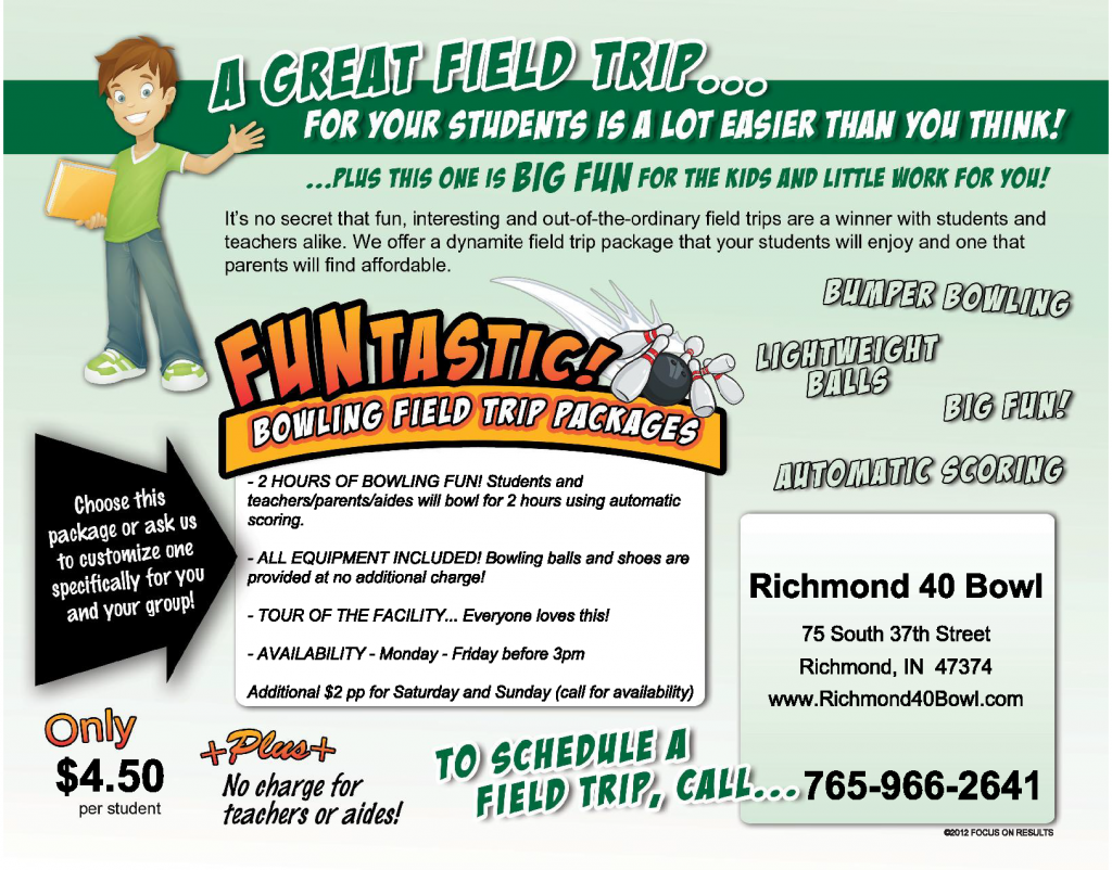 Field Trip | Ideas for Kids | Richmond 40 Bowl | Richmond, IN