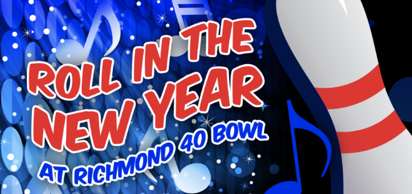 Richmond 40 Bowl New Year's Eve bowling party flyer